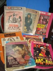 7 Old Vintage Indian Bollywood Movie's Magazines From India 1977 To 1990
