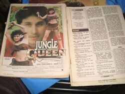 2 Old Vintage Incomplete Indian Bollywood Movie's Magazines From India 1990