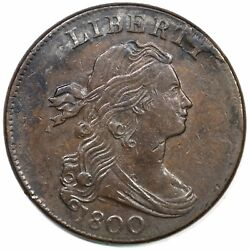 1800 S-208 R-3 Draped Bust Large Cent Coin 1c