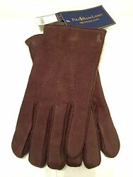 Gent's Leather Wool And Cashmere Texting Gloves Sz Xxl Brown New Tags