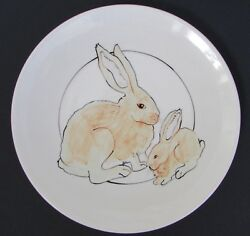 Animals And Co. Santa Fe, Nm Art Pottery Mei Ming Ware Rabbit Plate 11