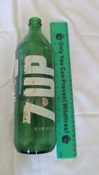 1971 7up Bottle Colectable 28 Fl Ounces One Of A Kind Green