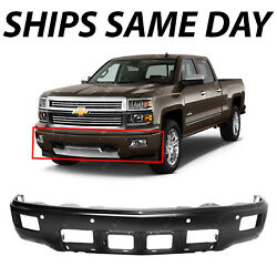 Primered Steel Bumper Face Bar For 2014 2015 Silverado 1500 High Country W/ Park