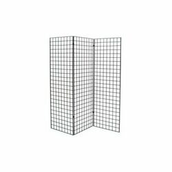 Only Hangers Black Finished Grid Z Unit With Three 2' X 6' Panels
