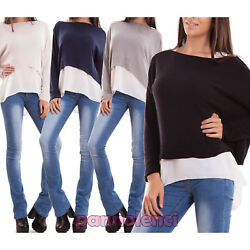 Women's sweater double sweater pullover short tank top veiled tail new CR-2419