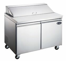 Saba 48 Commercial Stainless Steel Sandwich Prep Table And Food Prep 12 Pans