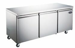 Saba 72 Commercial Undercounter Refrigerator, Stainless Steel Food Storage