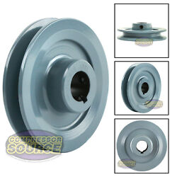 4 Cast Iron Pulley 7/8 Shaft Sheave Single 1 Groove V Style A Belt 4l New