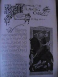 Peculiar Playing Cards History Collecting Rare Old Victorian Article 1893