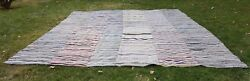 Vintage Kilim Rug Handwoven Striped Carpet Cotton And Goat Hair 12and03910and039and039 X 16and0391and039and039