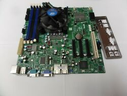 Supermicro X8sil Lga 1156 Server Motherboard With I/o Shield And Cooling Fan