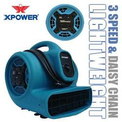 Xpower X-400a 1600 Cfm 1/4 Hp Air Mover Blower Carpet Dryer Floor Fan W/ Outlets