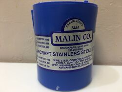 1 Roll Of .051 Malin Aviation S/s Aircraft Safety Wire 1lb Ea. W/ Certs