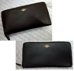 Fossil Pack of 2 Brown & Black Clutch Premium Solid Party Wear For Women & Girls