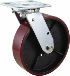 Value Collection 8 Diam X 2 Wide X 9-1/2 Oah Top Plate Mount Swivel Caster...