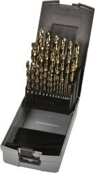 Precision Twist Drill 1/16 To 1/2 135anddeg Point Gold Finish Cobalt Jobber Le...