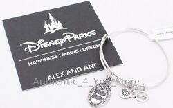 New Disney Alex And Ani Haunted Mansion Sign Gate Plaque Silver Bangle Bracelet