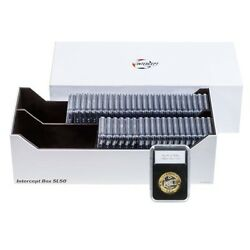 Certified Coin Collection Slabs Storage Box 50 Pcgs Ngc Anacs Igc Intercept Tech