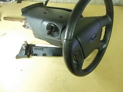 Ford 6e51-3e729 2007 Fusion Steering Wheel Assembly W/ Ignition Key