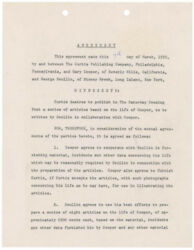 GARY COOPER - DOCUMENT SIGNED 03/07/1955 CO-SIGNED BY: GEORGE SCULLIN