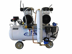 3hp 18 Gallon Oil Free And Noiseless Dental Air Compressor W/ Auto Dryer And Drain