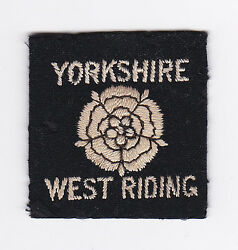 BRITISH  UNITED KINGDOM SCOUTS UK SCOUT YORKSHIRE WEST RIDING COUNTY BADGE E+++