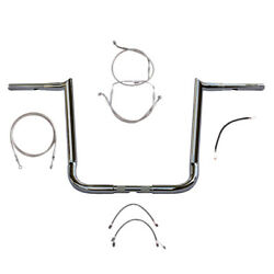 1 1/4 Chrome Wild 1 16 Hooked Bar Kit 2016 And Up Harley Street Glide Noabs