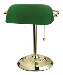Living Accents 17466-012 Bright Green Bankers Lamp 13.5 H In.