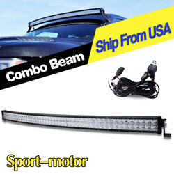52'' 700w Led Light Bar Curved Offroad Spot Flood Combo Driving Truck Suv 54''