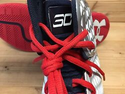 Under Armour UA Clutchfit Drive sz 12.5 White Red USA Olympic Steph Curry PE $125.00