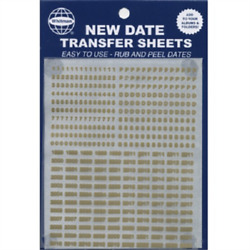 New Date Transfer Sheets GOLD for Whitman Albums Rub amp; Peel Free US Shipping NEW $10.39