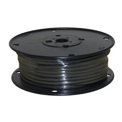 Wire 10 Awg Black 100ft Roll Ul Fine Strand Tinned Copper