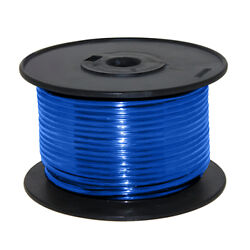 Wire 16 Awg Blue 100ft Roll Ul Fine Strand Tinned Copper