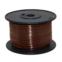 Wire 16 Awg Brown 100ft Roll Ul Fine Strand Tinned Copper