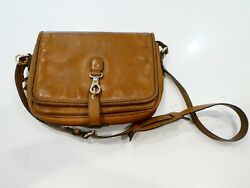 Very Good Condition - Gucci Marrakech Genuine Leather Camel Brown Messenger Bag