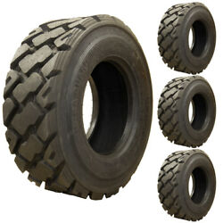 Set of 4 - Carlisle 10x16.5 Ultra Guard MX Severe Duty Skid Steer Tires - 10 Ply