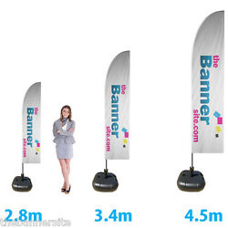 6 X Printed Feather Flags Includes Pole And Water Bases Special Offer 15 Off