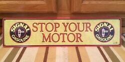 Signal Gas Stop Your Motor Garage Shop Mancave Oil Vintage Look Ford Wall