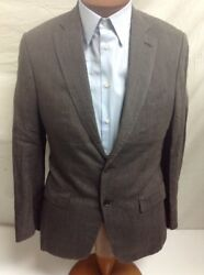 Isaia Base S Delaveand039 Linen Dk. Brown 2-bt Suit 38r/32 Eu 48r