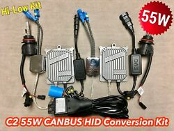 55W HI-LOW BEAM 9007 9004 CANBUS C21 NO ERROR SLIM BI-XENON HID KIT FOR FORD A