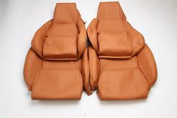 Custom Made 84-88 C4 Corvette Real Leather Seat Covers For Standard Seats Tan