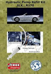 96-04 Mercedes Hydraulic Pump Refill Kit Slk Class Convertible R170 With Oil