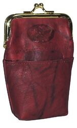 New Buxton Women#x27;s Heiress Pik Me Up High Quality Leather Framed Cigarettes Case $14.95