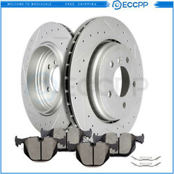 For 2000 2001 2002 2003 2004 2007 Bmw 330 E46 Rear Brake Rotors And Ceramic Pads