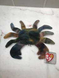 Very Rare Retired Ty Claude Pvc Beanie Babies Mint Condition...major Errorss