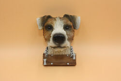 Jack Russell Terrier Head Wall Mount Plaque Figurine Home Decor