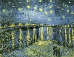 Starry Night Over The Rhone Vincent Van Gogh Giclee Fine Art Paper Repro