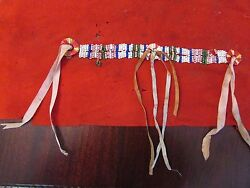Antique Plains Indian Quilled And Beaded Shirt Decoration 19th Century Sioux