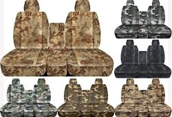Fits 11-2014 Ford F150 Front 40-20-40 Camouflage Car Seat Covers Solid Console