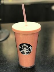 Starbucks Pink Sparkle Holiday Limited Edition Venti Cup